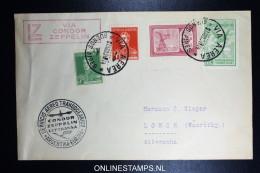 Graf Zeppelin 5. Sudamerikafahrt Sieger 261 A Cover Buenos Aires To Lorch - Poste Aérienne