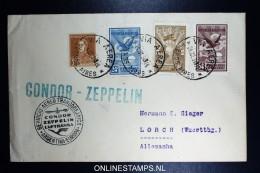 Graf Zeppelin 4. Sudamerikafahrt Sieger 262 Cover Buenos Aires To Lorch - Luftpost