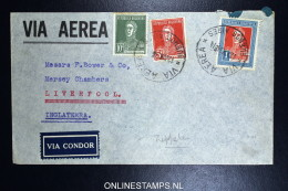 Graf Zeppelin 2. Sudamerikafahrt Sieger 252  Cover Buenos Aires To Liverpool - Luftpost