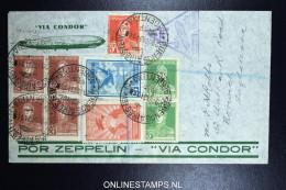 Graf Zeppelin 3. Sudamerikafahrt Sieger 256  Registered Cover Buenos Aires To Norwich UK - Luftpost