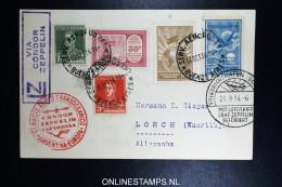 Graf Zeppelin 8. Sudamerikafahrt Sieger 275 A  Buenos Aires To Lorch - Poste Aérienne