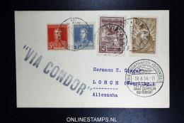 Graf Zeppelin 2. Sudamerikafahrt Sieger 252 A  Buenos Aires To Lorch - Luftpost