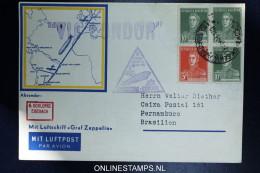 Graf Zeppelin 3. Sudamerikafahrt Sieger 254 Db  Buenos Aires To PERNAMBUCO Recife - Poste Aérienne