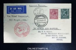 Graf Zeppelin 2 Sudamerikafahrt  1934 Sieger 250   Norwich To Rio - 1902-1951 (Könige)