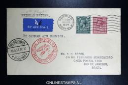 Graf Zeppelin 6. Sudamerikafahrt  1934 Sieger 268   Norwich To Rio  Vertragsstaatenpost - 1902-1951 (Könige)