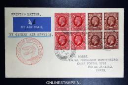 Graf Zeppelin 9. Sudamerikafahrt  1934 Sieger 277   Norwich To Rio  Vertragsstaatenpost - 1902-1951 (Könige)