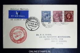 Graf Zeppelin 7. Sudamerikafahrt  1934 Sieger 271   Norwich To Rio  Vertragsstaatenpost - 1902-1951 (Könige)