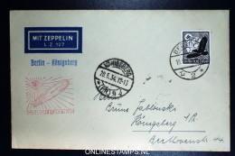 Graf Zeppelin LZ 127 1934, Deutschlandfahrt,  Sieger 246 Ad Berlin - Königsberg - Posta Aerea