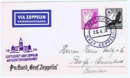 Graf Zeppelin LZ 127 1934, 3. Südamerikafahrt Sieger 254 Bordpostbrief - Luftpost