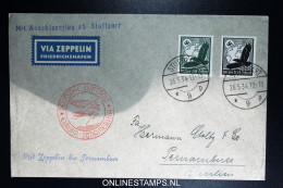 Graf Zeppelin LZ 127 1934, 1. Südamerikafahrt Sieger 247 Ba Anschlussflug Stuttgart - Luchtpost