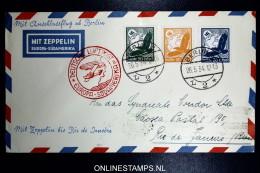 Graf Zeppelin LZ 127 1934, 1. Südamerikafahrt Sieger 247 Bb Anschlussflug Berlin - Luftpost