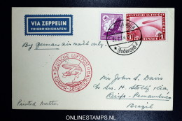 Graf Zeppelin LZ 127 1934, 4. Südamerikafahrt Sieger 260 Aa - Luftpost