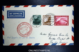 Graf Zeppelin LZ 127 1934, 8. Südamerikafahrt Sieger 274 Aa Stempel C - Luftpost