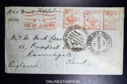 Graf Zeppelin LZ 127 1935, 3. Südamerikafahrt Sieger 300 A  Rio To Ramsgate, Machine Cancels - Luftpost