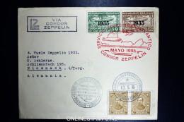 Graf Zeppelin LZ 127 1935, 4. Südamerikafahrt Sieger 301   Registered Cover Asuncion To Eisenach - Luftpost