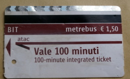 ITALIA 2016 - ROME METRO TICKET USED - Metro