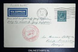 Graf Zeppelin LZ 127 1935, 4. Südamerikafahrt Sieger 296  Zuleitungspost - 1902-1951 (Könige)