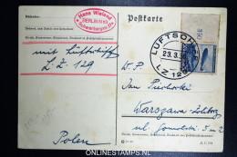 Graf Zeppelin LZ 127 1936, 2. Probefahrt 23.3.36 Sieger 0344II  Bordpost To Warschau Poland - Luftpost