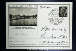 Graf Zeppelin 100. Geburtstag Des Grtafen Von Zeppelin Friedrichshaven 8-7-1938  Postkarte - Luftpost