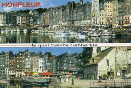 Honfleur - Le Quai Sainte Catherine - Le Vieux Bassin, Les Façades Typique Du Quai Sainte Catherine Et La Lieutenance. - Honfleur