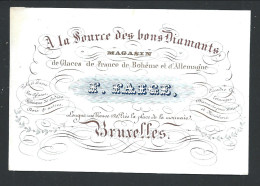 Carte Porcelaine - Porcelein Kaart - BRUXELLES - Magasin De Glaces - Longue Rue Neuve - Litho  // - Cartes Porcelaine