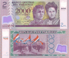 Paraguay P228c, 2000 Guarani, Adela Celsa Speratti / Chool-parade -POLYMER -UNC - Paraguay