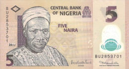 Nigeria P38d, 5-Naira, Prime Minister Balewa Nkpokiti / Dancers, Drums POLYMER - Nigeria
