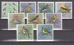 Poland Polen 1966,9V In Set,birds,vogels,vögel,oiseaux,pajaros,uccelli,aves,MNH/Postfris(A2399) - Oiseaux