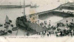 FRANCE -   LE HAVRE - 1905 - Les Brise-Lames Er L'Avant-Port - Vignette - VG Postmarks Etc - Le Havre
