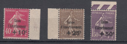 Francia - Caisse D´Amortisement Yv. 266/268 ** Periziati Luigi Gazzi - France