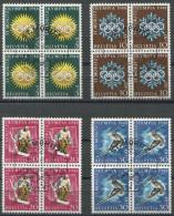 1334 - 1948 OLYMPIADE ST. MORITZ - Gestempelte Serie - Schweiz