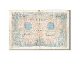 France, 20 Francs, 20 F 1905-1913 ''Bleu'', 1912, 1912-03-20, KM:68b, TB+, Fa... - 1871-1952 Circulated During XXth