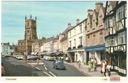 GB - Regno Unito - GREAT BRITAIN - Cirencester  - The Market Square And Church, Auto Cars - Wrote But Not Sent - Inghilterra