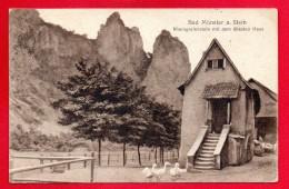 Bad Münster Am Stein. Rheingrafenstein Mit Dem ältesten Haus. Feldpost Kreuznach 1916 - Bad Muenster A. Stein - Ebernburg