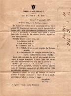 1876  LETTERA CON ANNULLO GIRGENTI - Servizi
