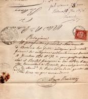 1876   LETTERA CON ANNULLO PIEVE DI CADORE BELLUNO - 1861-78 Vittorio Emanuele II