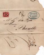 1875   LETTERA CON ANNULLO  MODENA + DISTRETTO MILITARE 47 - 1861-78 Vittorio Emanuele II