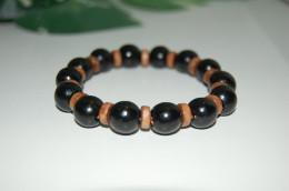 Beautiful Wood Beads Bracelet,Stretch Bracelet,Spirituality,Prayer,Yoga,Protection,Man,Woman,Boho,Folk,Gift - Bracciali
