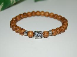 Buddha Wood Bracelet,Elastic Fit All,Spirituality Bracelet,Mala,Pray,Yoga,Man,Woman,Boho,Folk,Meditation,Man,Woman - Bracelets