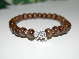 Om, Buddhist Wood Bracelet,Elastic,Spirituality Bracelet,Mala,Pray,Yoga,Man,Woman,Boho,Folk,Meditation,Man,Woman - Bracelets
