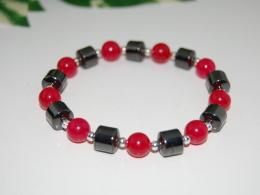 Magnetic Hematite Beads Bracelet,Man,Woman,health ,Healing, Relieve ,Protection, Meditation, Yoga, Boho ,Stretch Fits - Bracciali