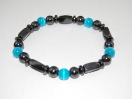 Magnetic Hematite Beads Bracelet,Man,Woman,health ,Healing, Relieve ,Protection, Meditation, Yoga, Boho ,Stretch Fits - Bracelets