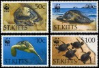 (WWF-178) W.W.F. Saint Kitts Turtle MNH Perf Stamps 1995 - W.W.F.