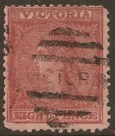 VICTORIA 1877 8d QV Wmk 10 SG 192c U #TE37 - 1850-1912 Victoria