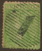 VICTORIA 1863 1d QV Wmk 6 SG 116 U* #TE26 - 1850-1912 Victoria