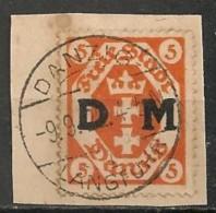Timbres - Allemagne - Etranger - Dantzig - 1921-1923 - 5 P. -