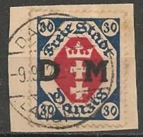 Timbres - Allemagne - Etranger - Dantzig - 1921-1923 - 30 P. -