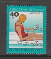 TIMBRE NEUF D´ALLEMAGNE FEDERALE - AVIRON (ENTRAINEMENT DE LA JEUNESSE POUR LES J.O.) N° Y&T 732 - Rowing