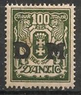 Timbres - Allemagne - Etranger - Dantzig - 1921-1923 - 100 M. -