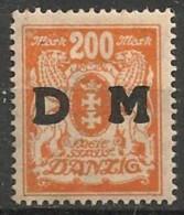 Timbres - Allemagne - Etranger - Dantzig - 1921-1923 - 200 M. -